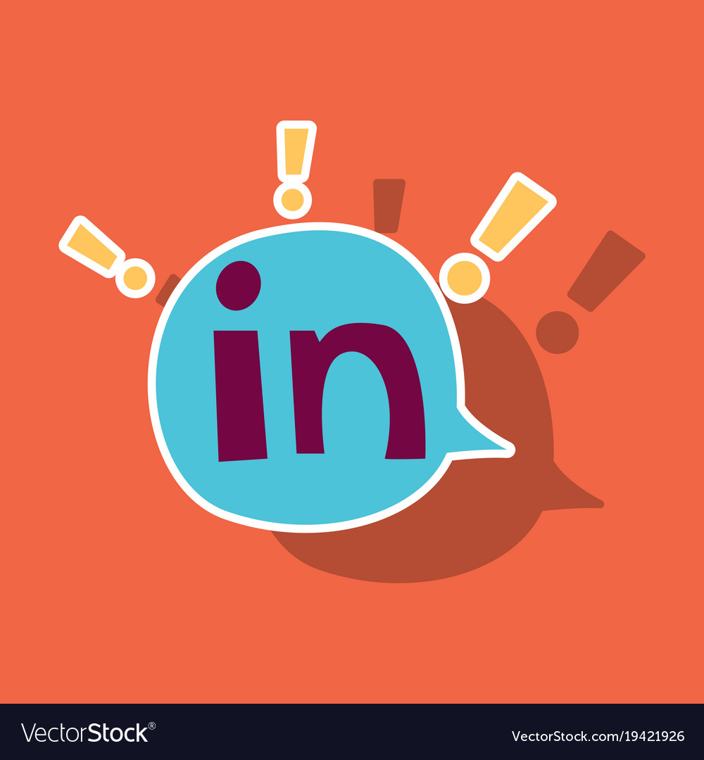 Sticker Linkedin Color Icon Glossy App Icon Logo