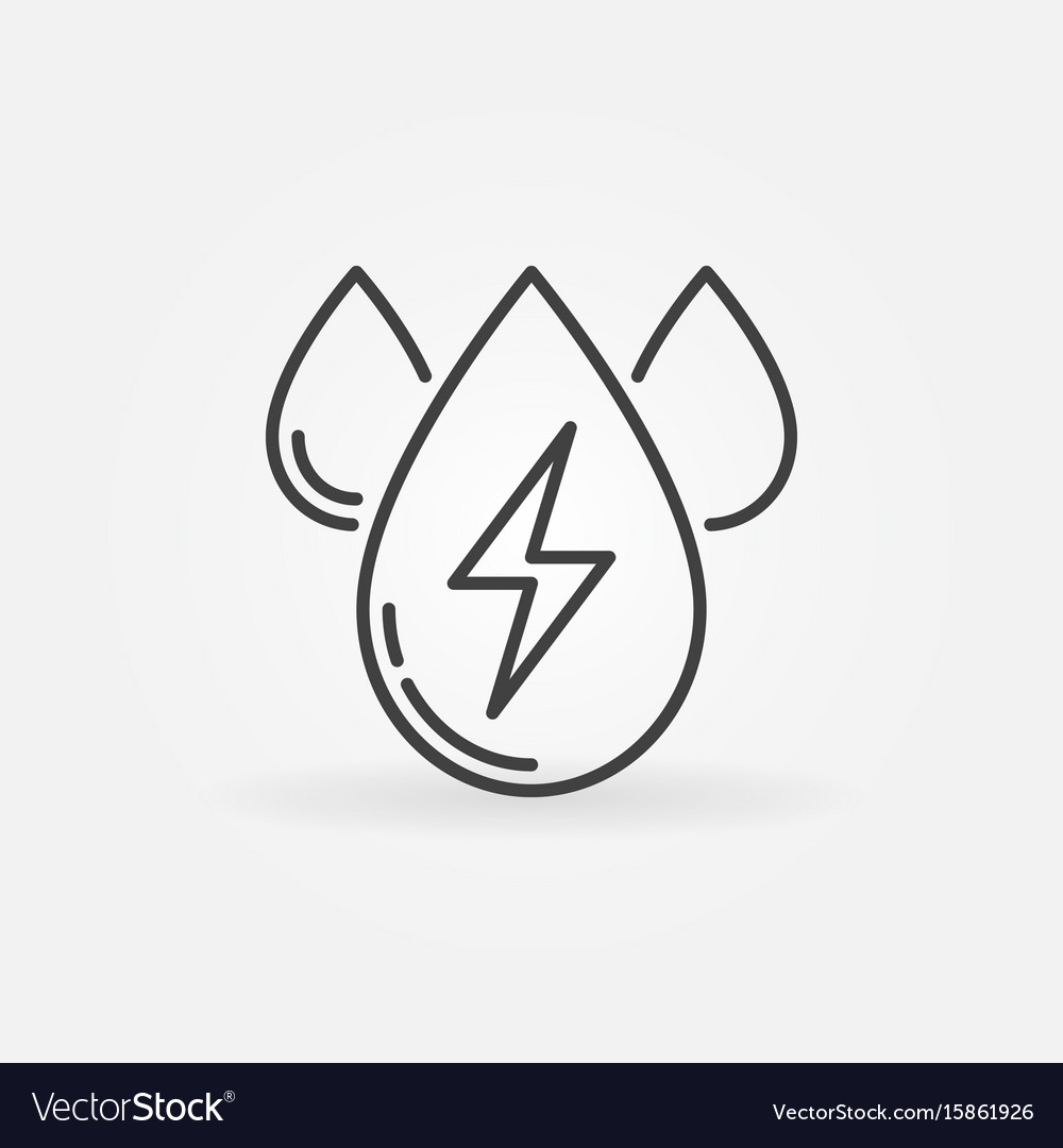 Water energy outline icon