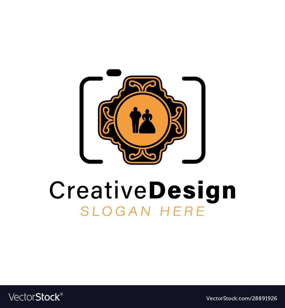 Wedding Photographer Logo Ideas Inspiration Logo Vector Image