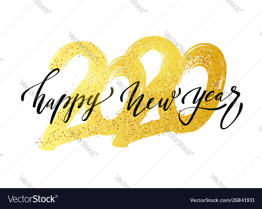 2020 new year in golden style