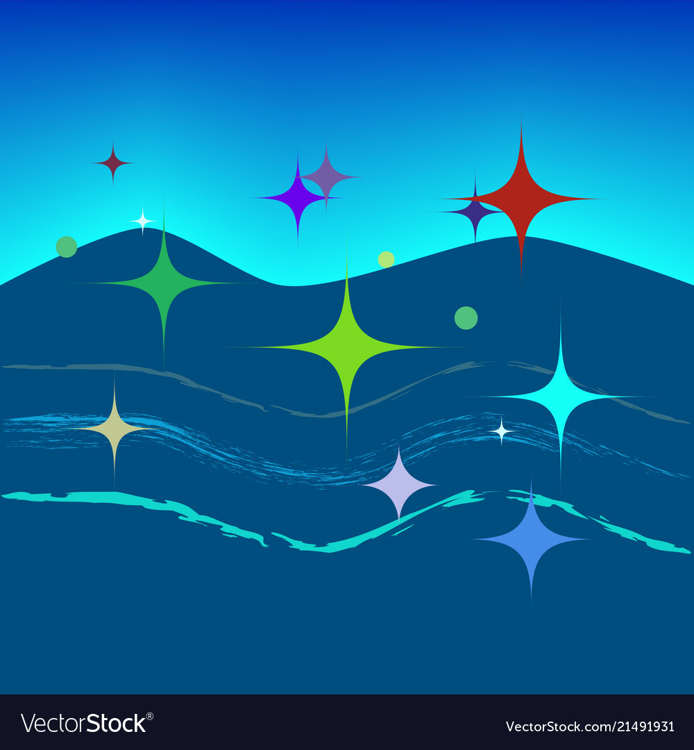 Abstract modern colorful background of star