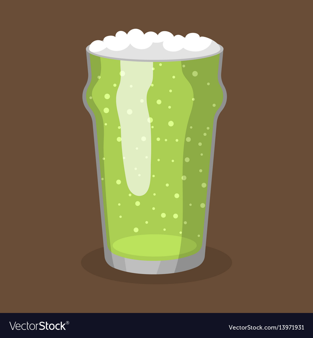 Alcohol green beer transparent glass