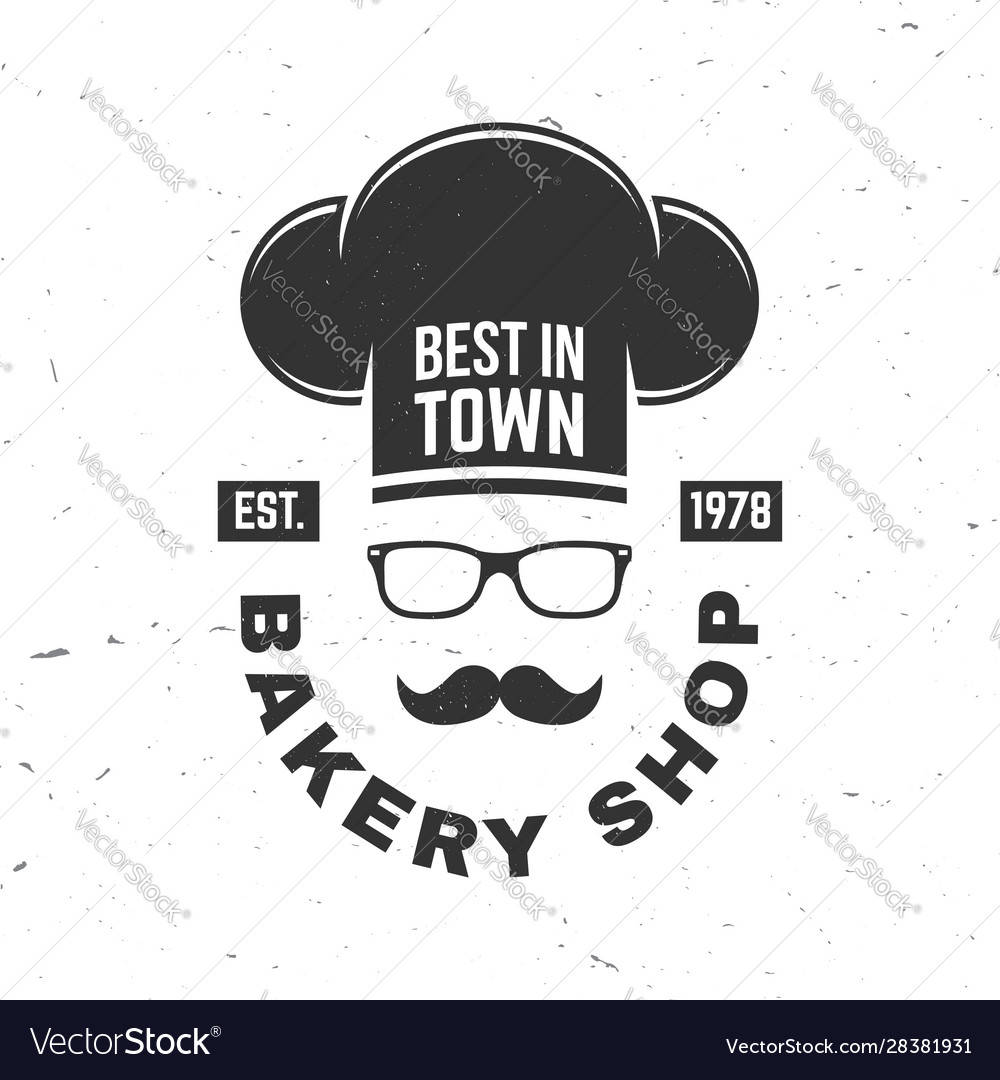 Bakery shop concept for badge shirt