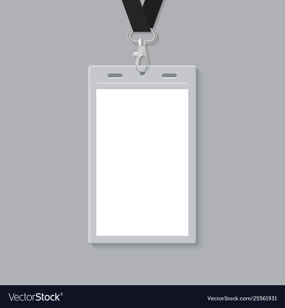 Blank id card template Royalty Free Vector Image