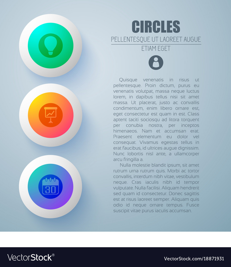 Circle buttons concept background