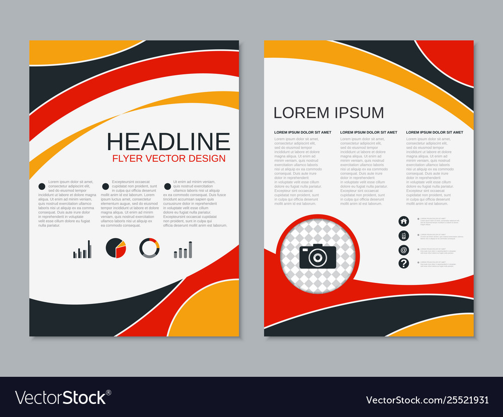 Two Sided Flyer Design Vector Image