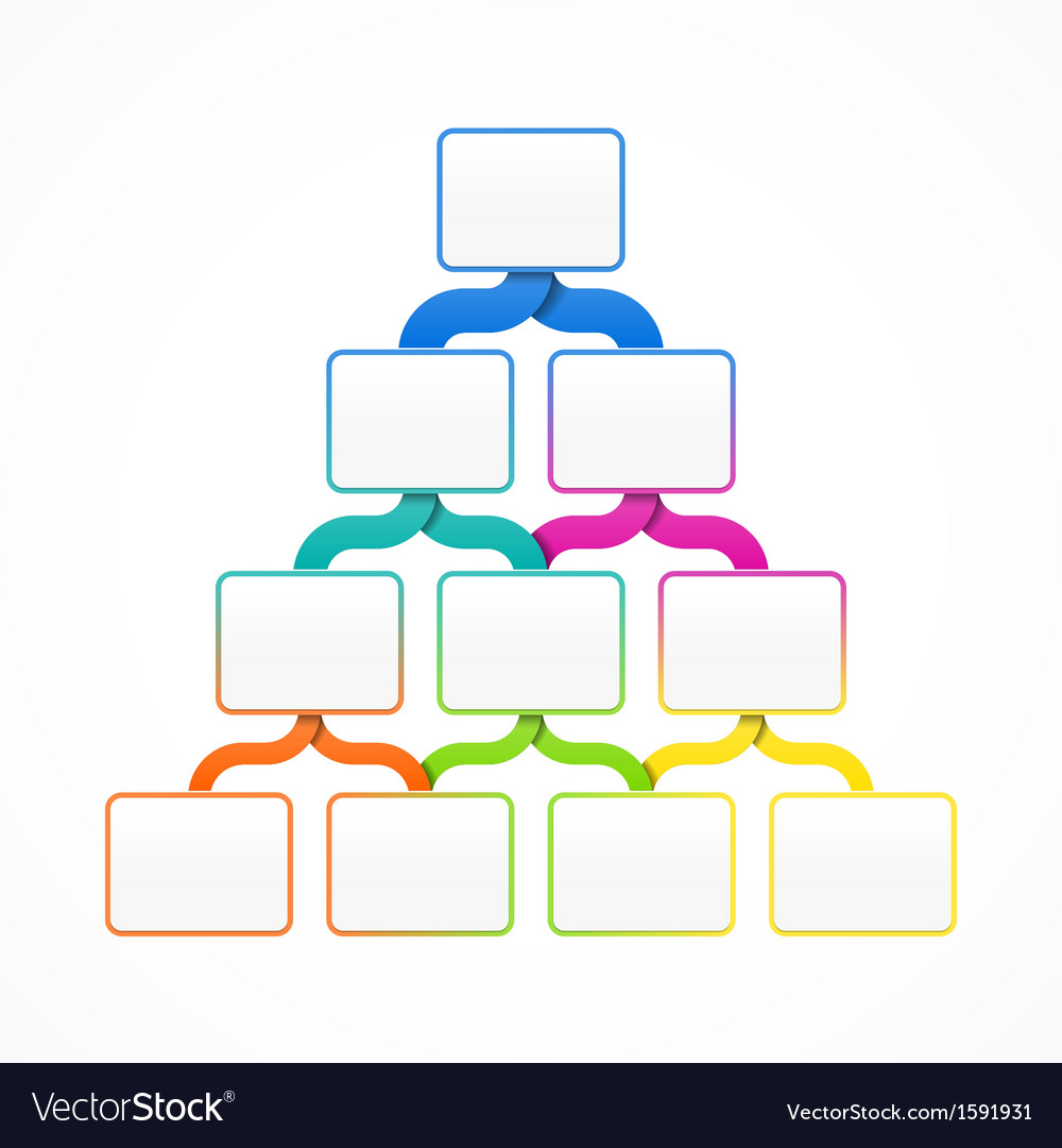 Pyramid hierarchy template Royalty Free Vector Image