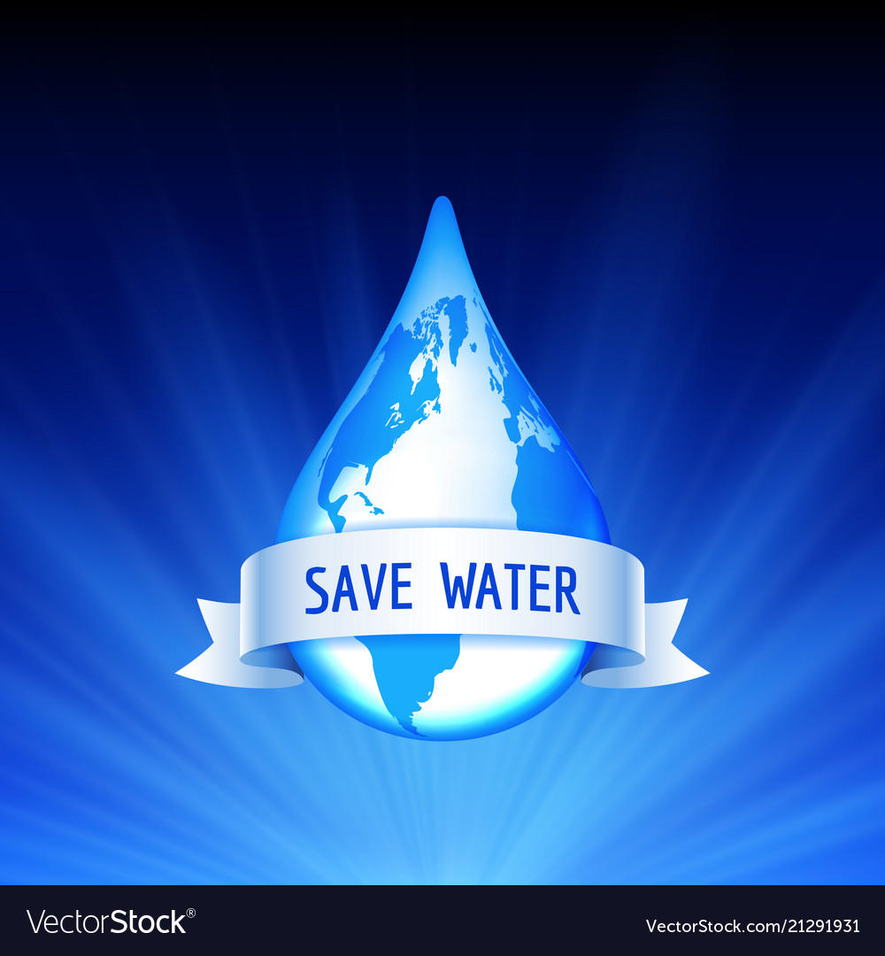 Save the earth and water concept