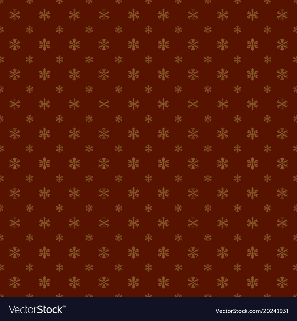 Seamless geometric snowflake pattern wallpaper