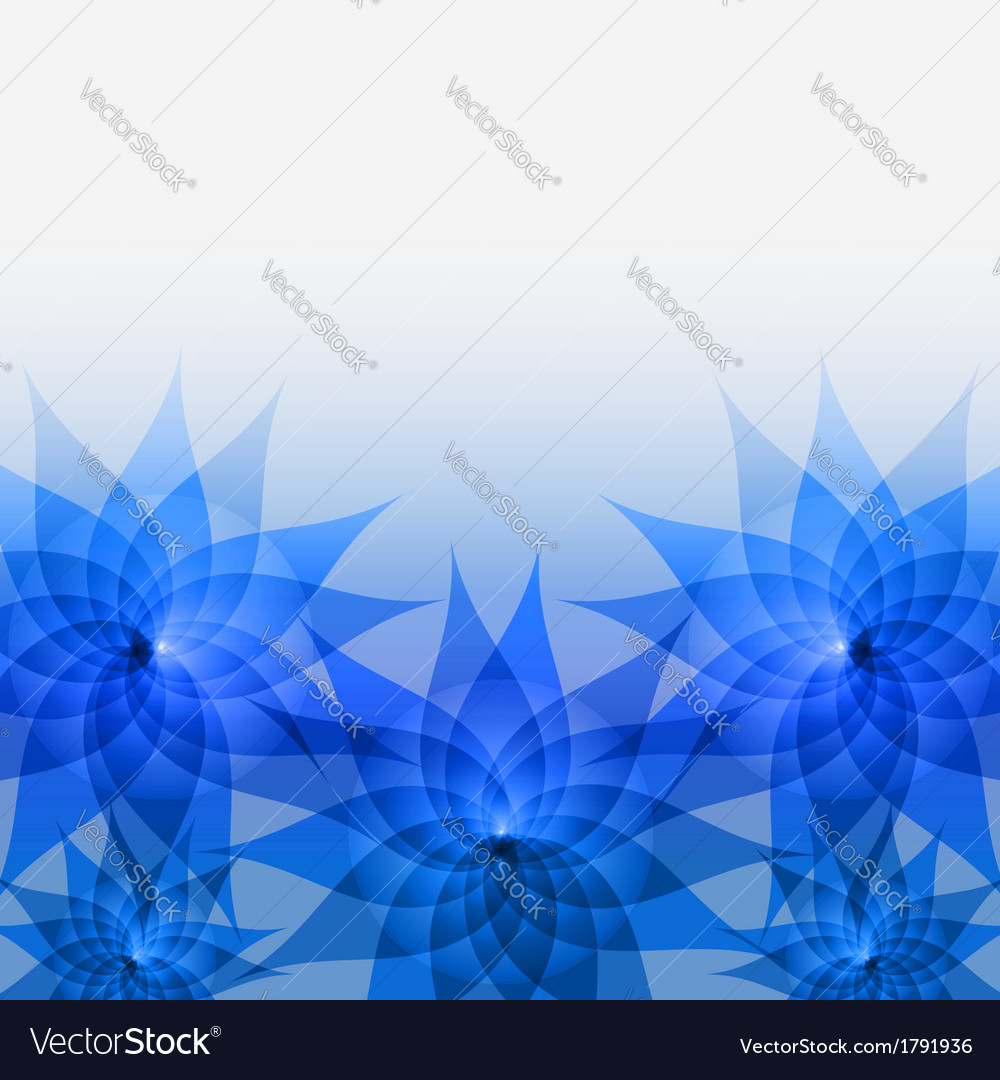 Abstract floral background with blue flowers vector image izmirmasajfo