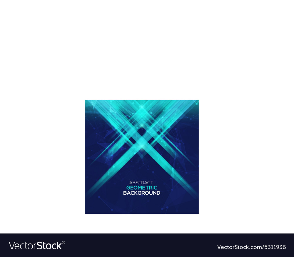 Abstract geometric bacground with rays vector image