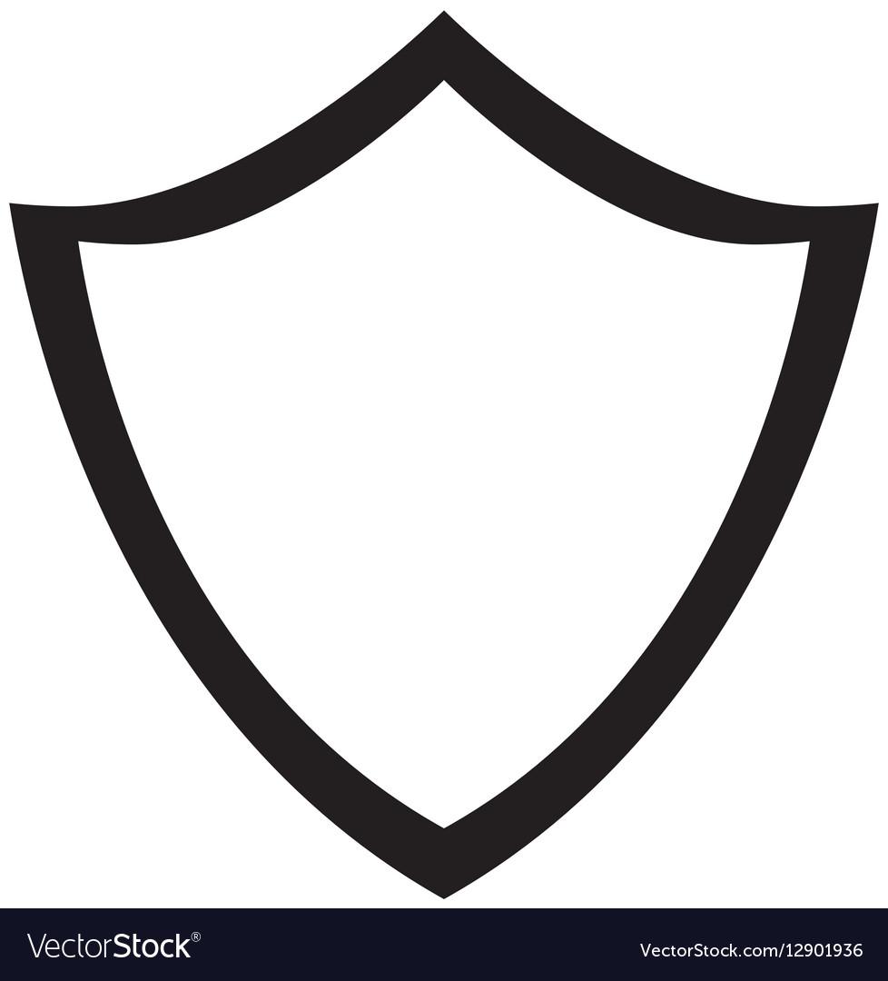 Black shield icon image design vector image