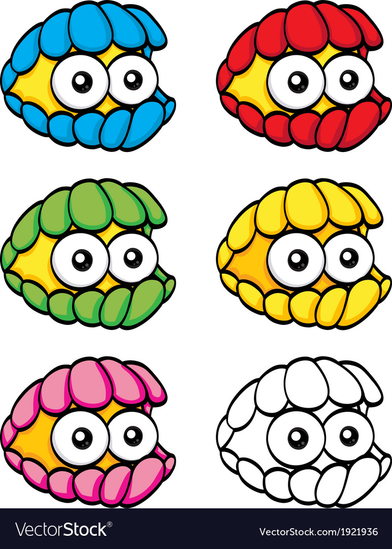 Cartoon clam vector image