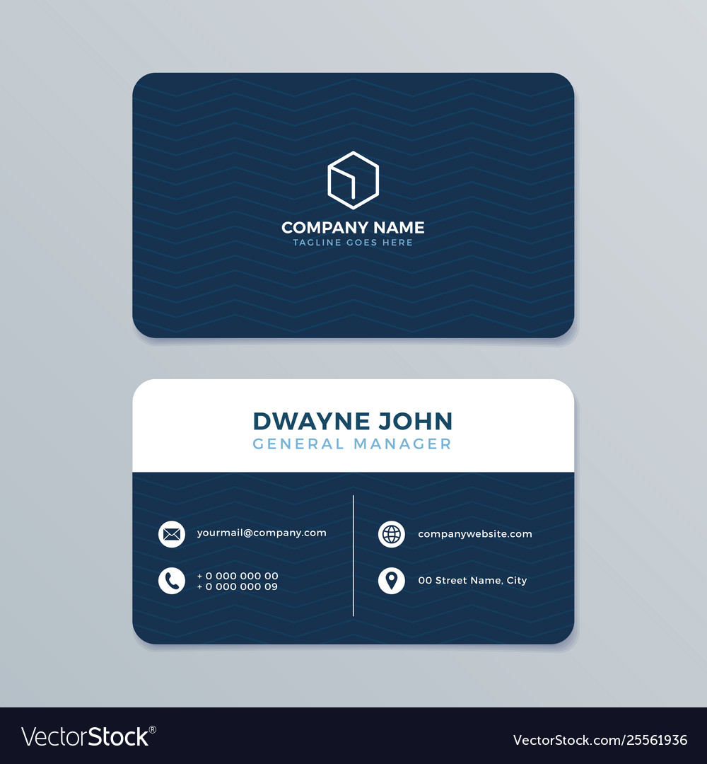 Clean and modern business card template Royalty Free Vector