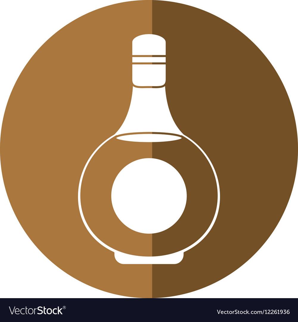 Cognac bottle alcochol drink style shadow