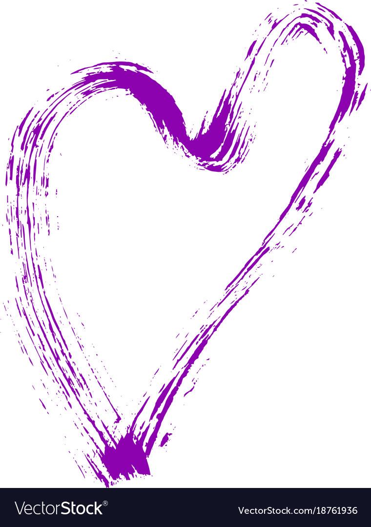 Heart shape design for love symbols hand drawn vector image