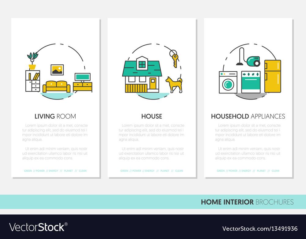 House interior business brochure linear