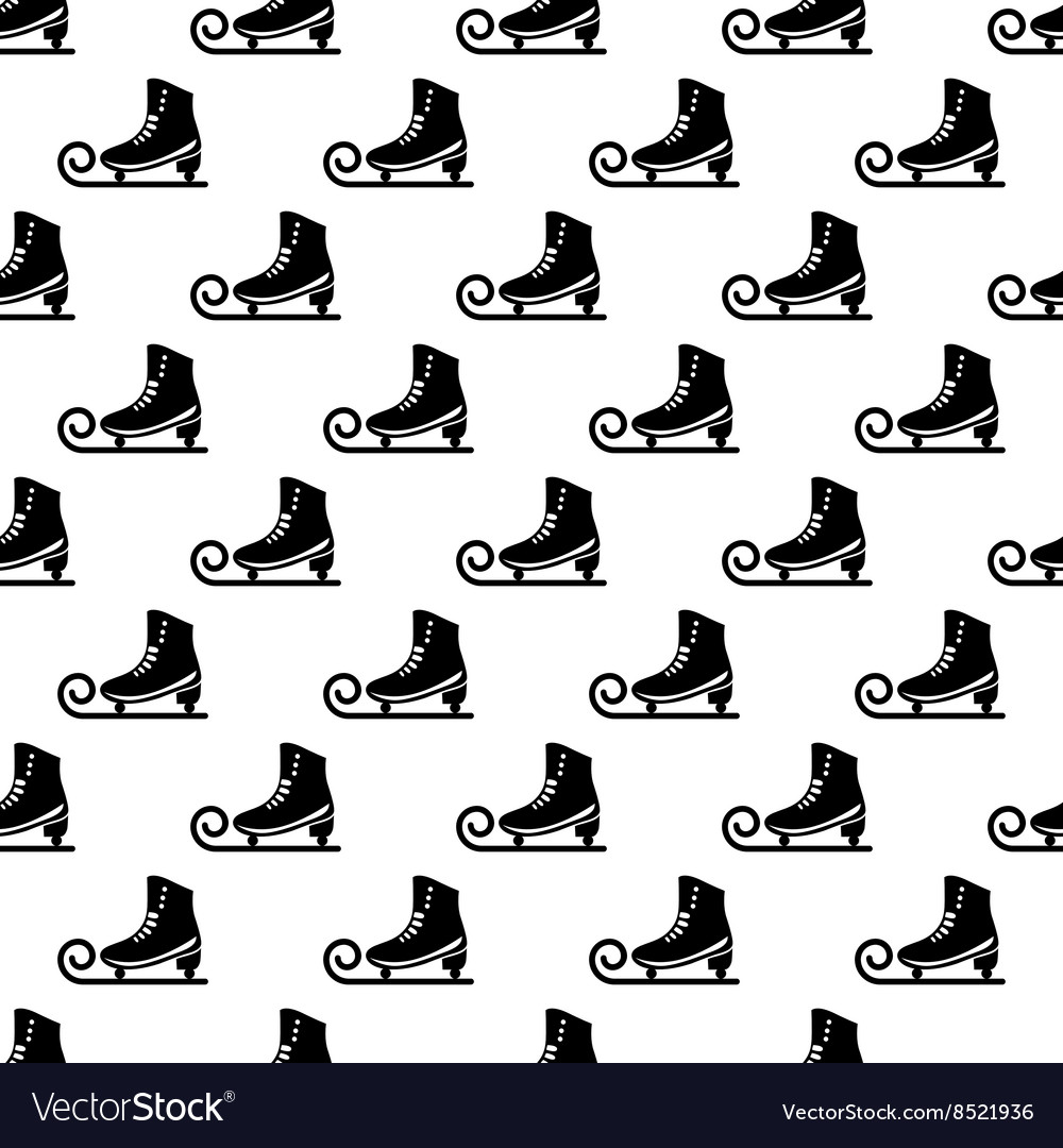 Ice skate pattern seamless