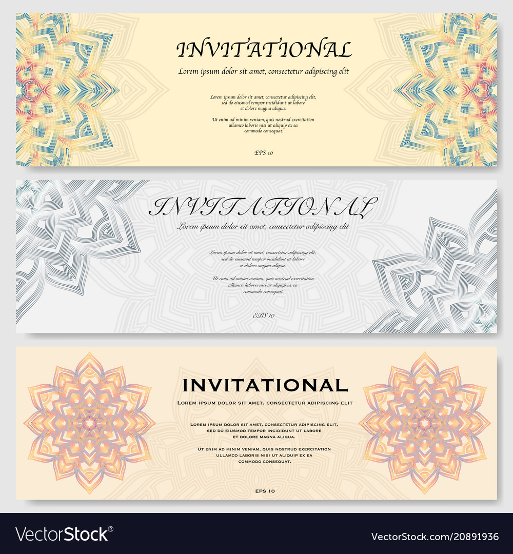 Invitational cards set