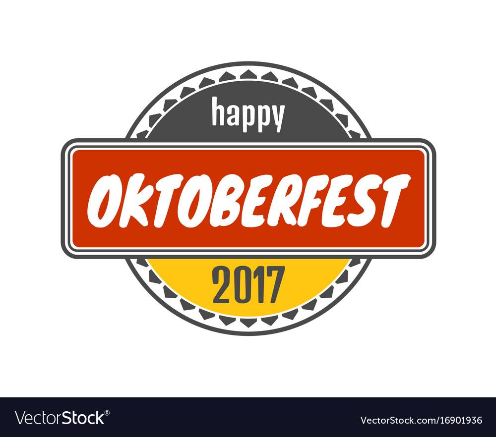 Oktoberfest stamp pattern