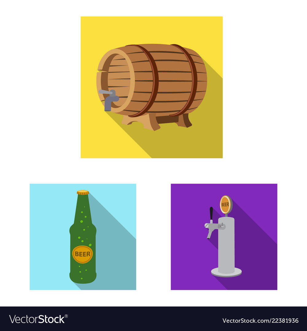Pub and bar logo set of