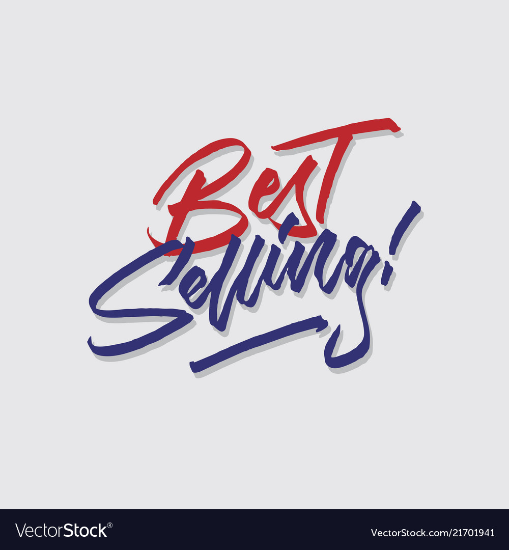 Best selling hand lettering typography