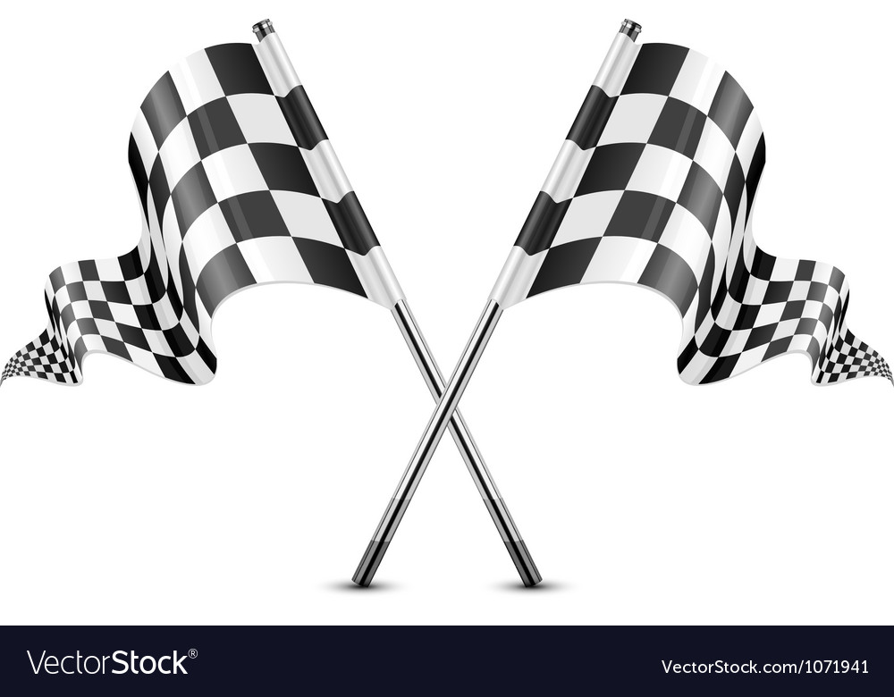 checkered flag royalty free vector image vectorstock rh vectorstock com checkered flag vector clipart checkered flag vector art