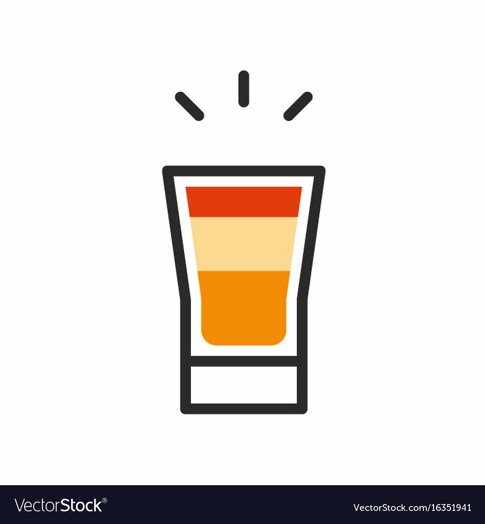 Cocktail shot icon
