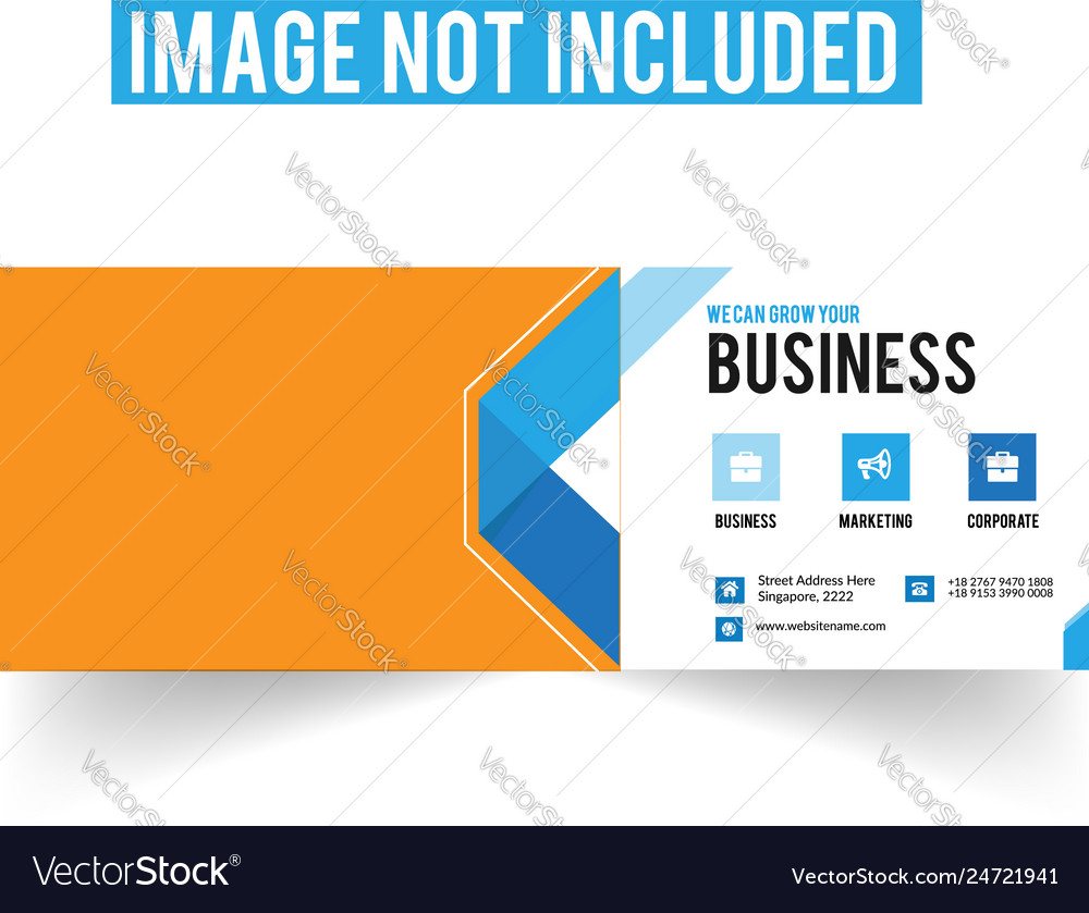 Corporate facebook cover page template