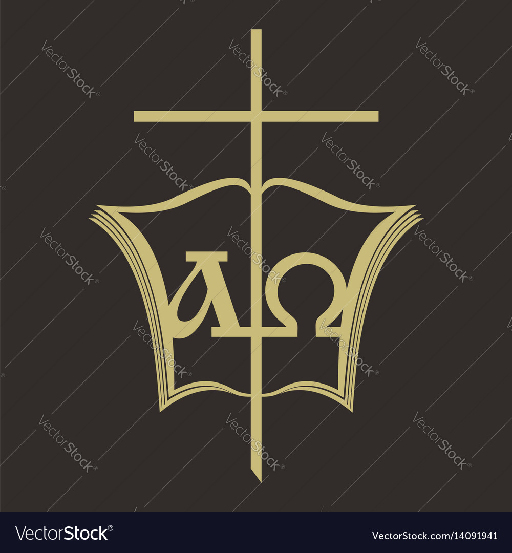 Cross and the bible vector image