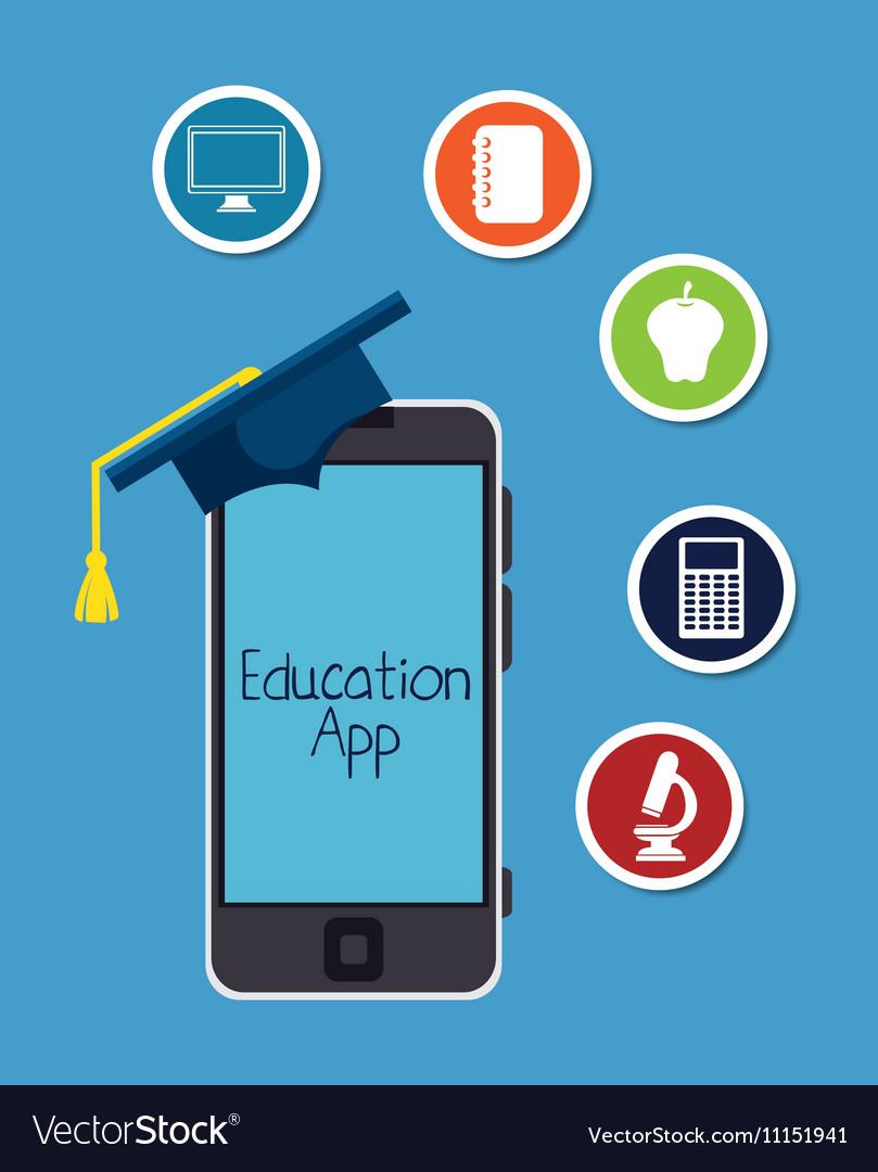 Education online app smartphone design