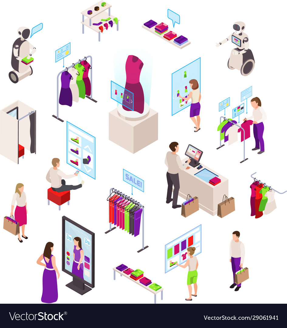 Fashion Clothes Store Set Royalty Free Vector Image
