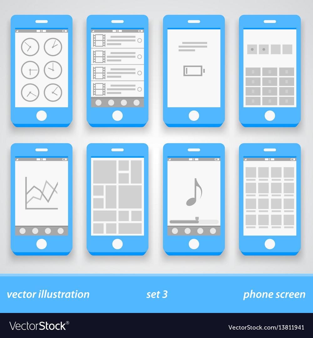 Flat phone screen set 3