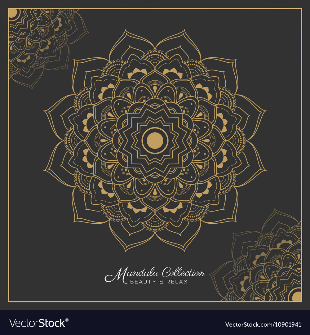 Henna Mandala Tattoo Design Royalty Free Vector Image