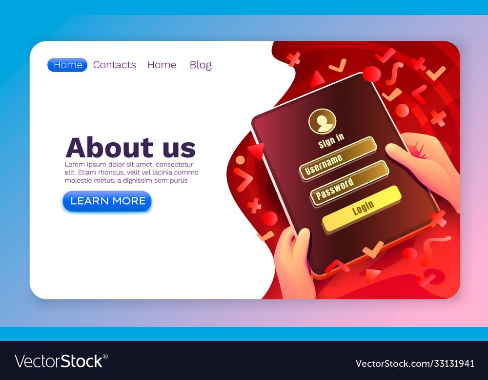 Login window app sign in username password web
