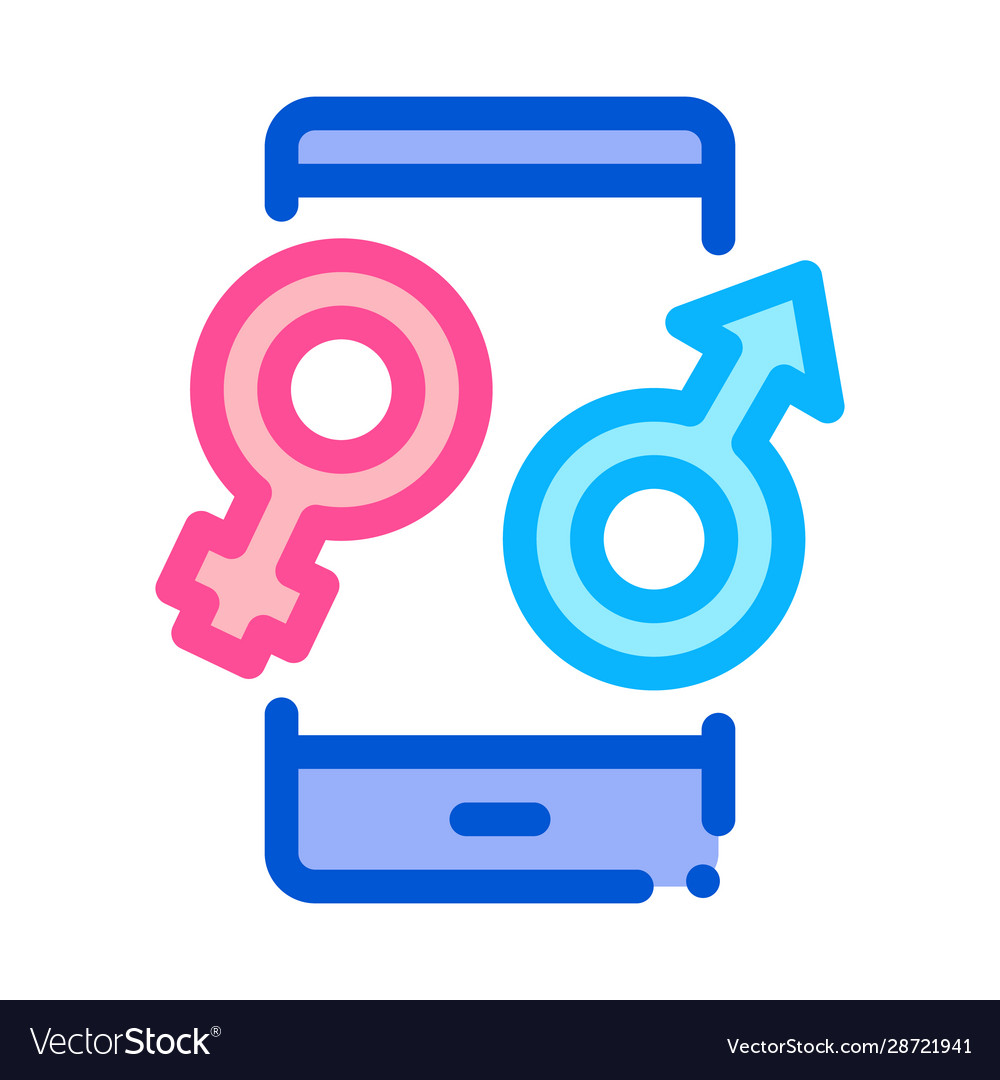 Male and female compatibility icon outline