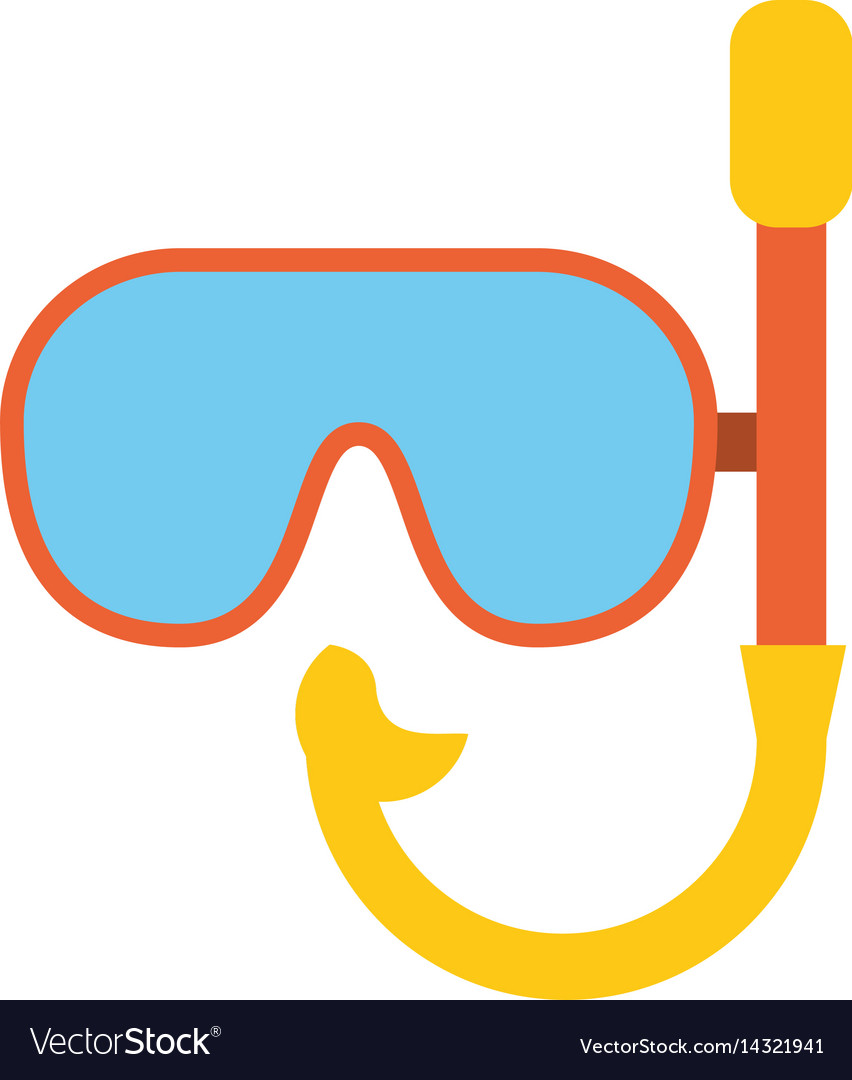 Mask snorkel vacation recreation vector image