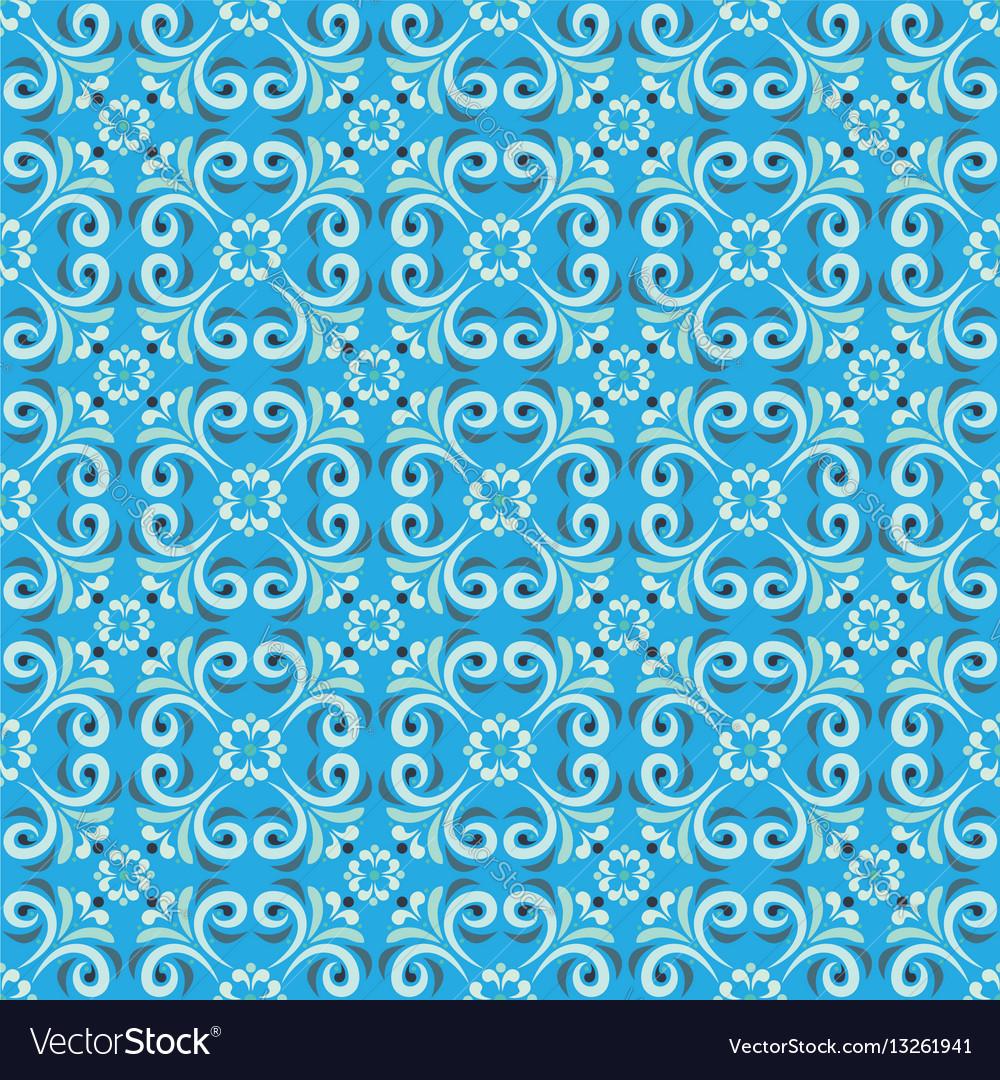 Seamless pattern with stylized flowers mandala
