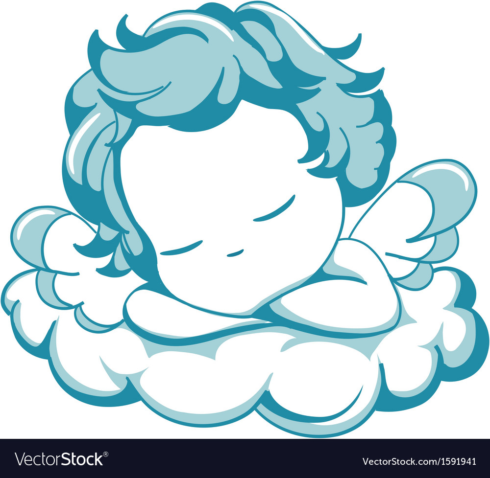 Sleeping litle Angel vector image