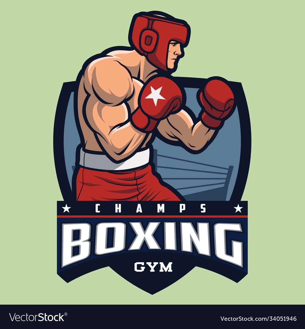 Boxing gym mascot and logo