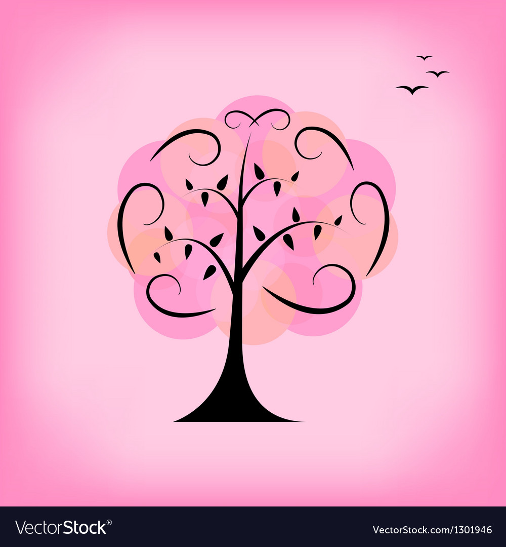 Colorful tree Background card template vector image