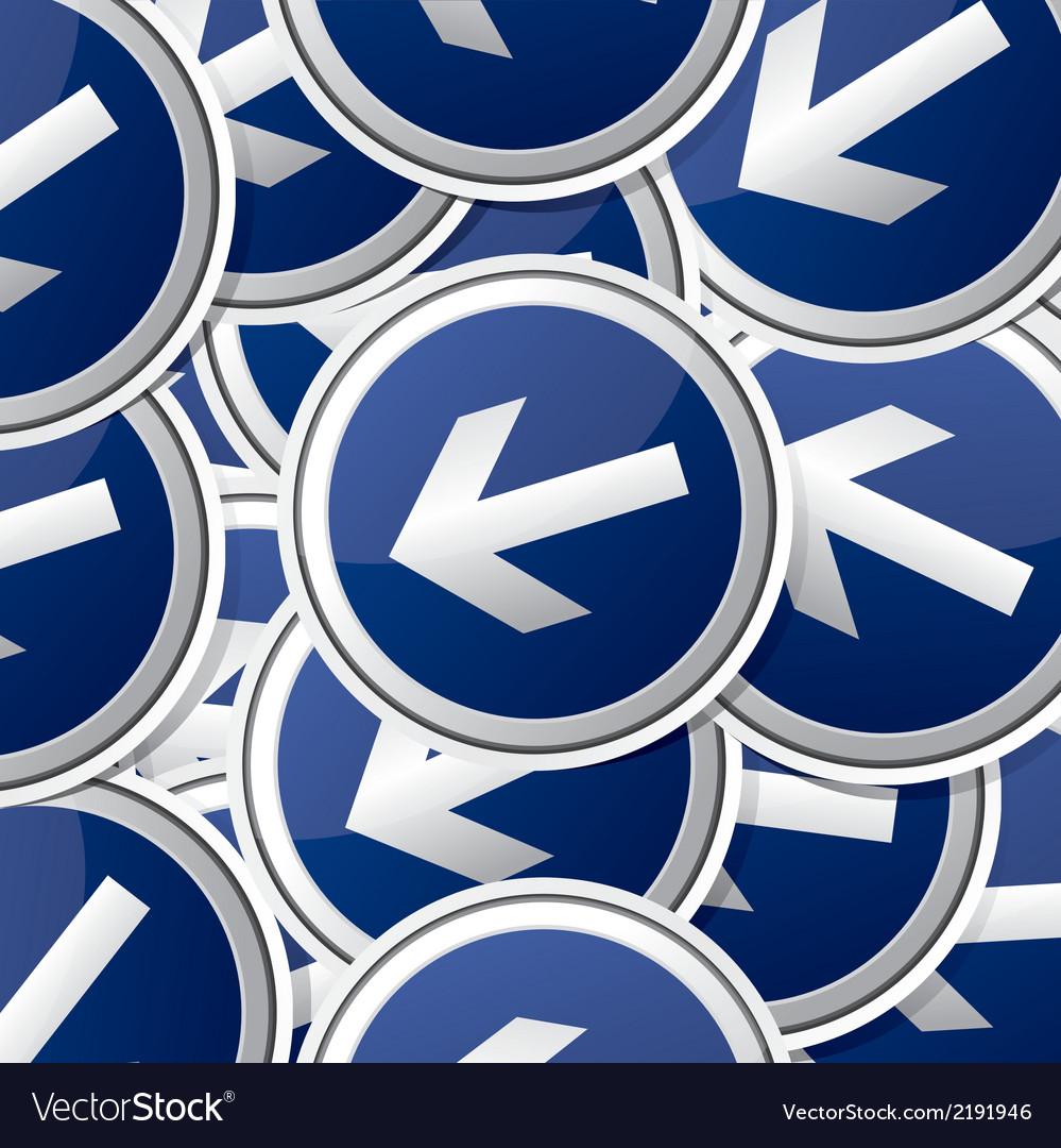 Danger symbol traffic board collection set