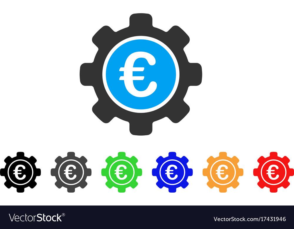 Euro Settings Icon Royalty Free Vector Image Vectorstock