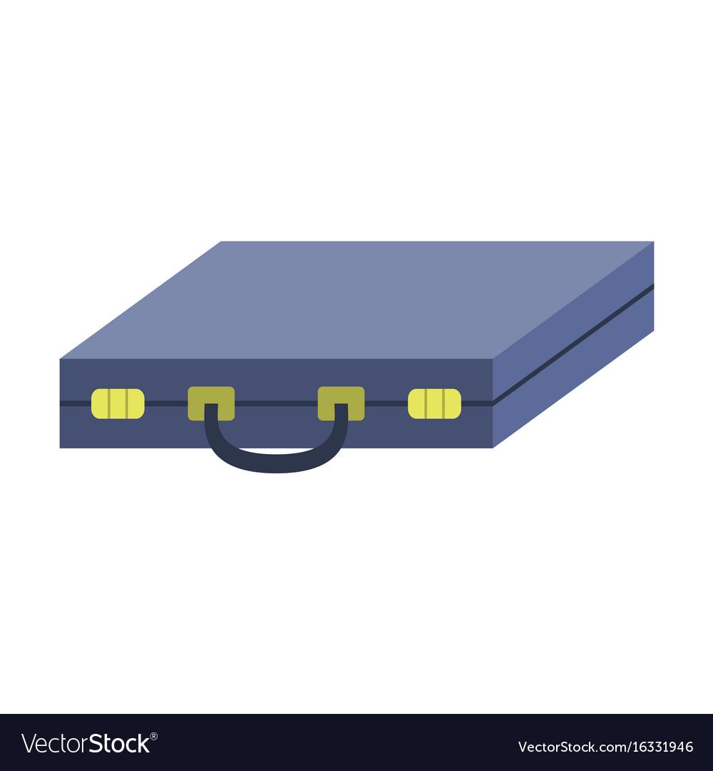 Flat icon on stylish background business case