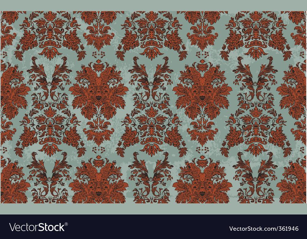 Hand drawn damask pattern