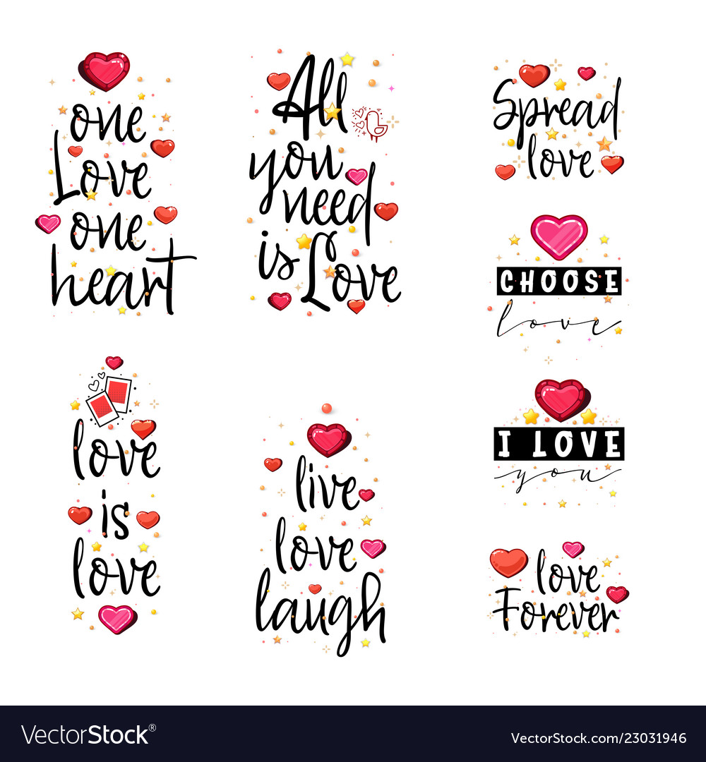 Love Quotes Vintage Lettering For T Shirt Design Vector Image