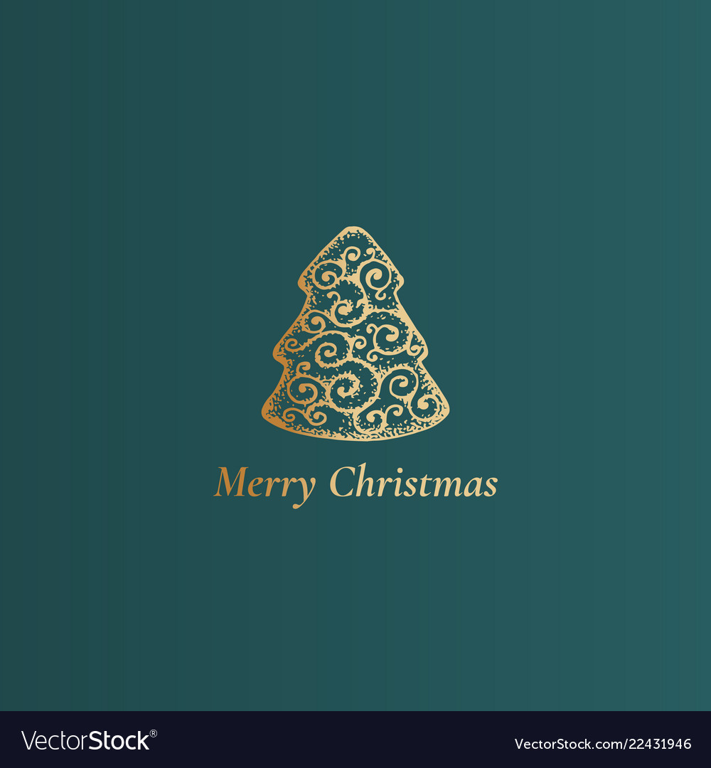 Merry christmas abstract classy label sign