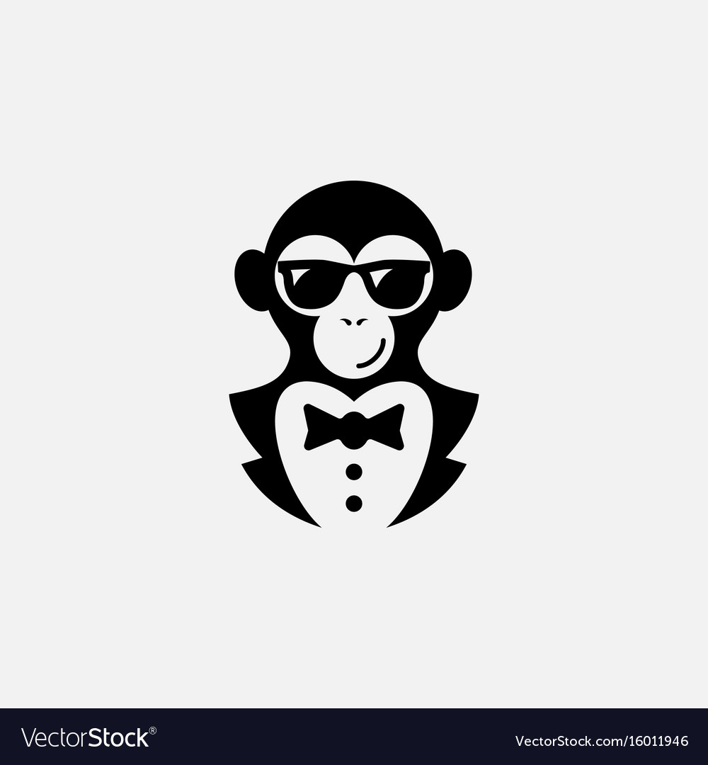 Monkey Logo Royalty Free Vector Image  Vectorstock. Obsession Signs. Rainforest Waterfall Wall Murals. Corn Logo. Cheer Logo. Enclosed Trailer Decals. Kmx 125 Decals. Tool Banners. Svg Free Decals