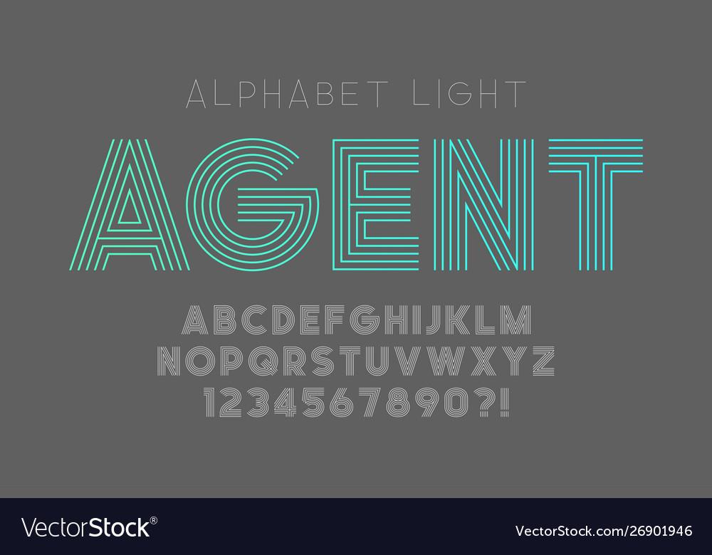 Original bold alphabet creative characters set