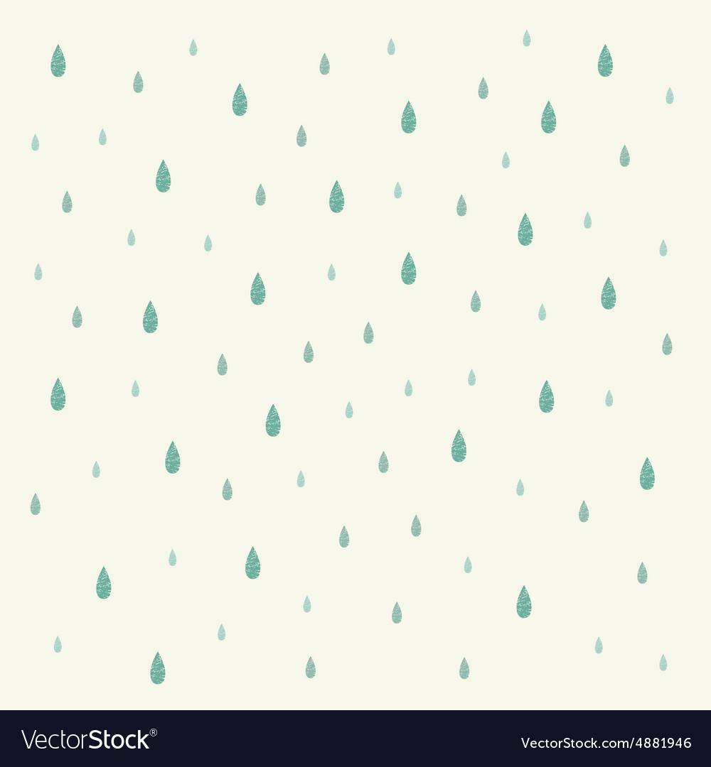 Raindrop background vector image